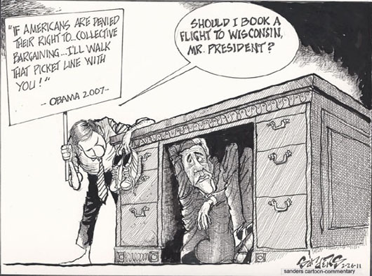 Candidate Obama Wouldn't Be Under The Desk